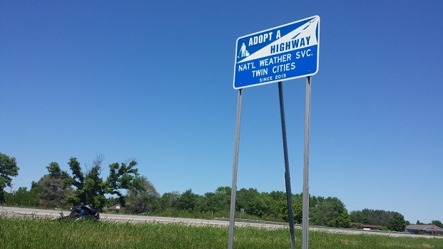 Picture of adopt a highway sign